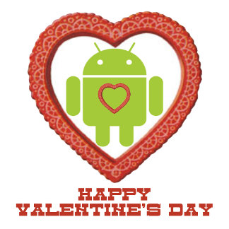 Happy Valentine's Day (Bug Droid Two Hearts)