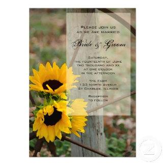 Sunflowers and Wagon Wheel Wedding