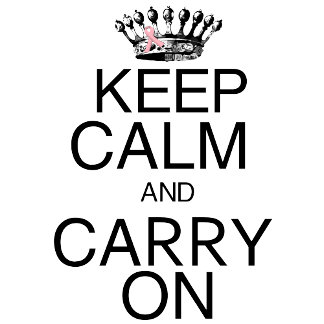 Keep Calm and Carry On Pink Ribbon