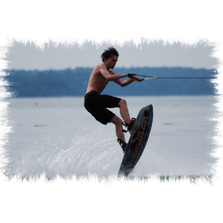 Jumping Wakeboarder