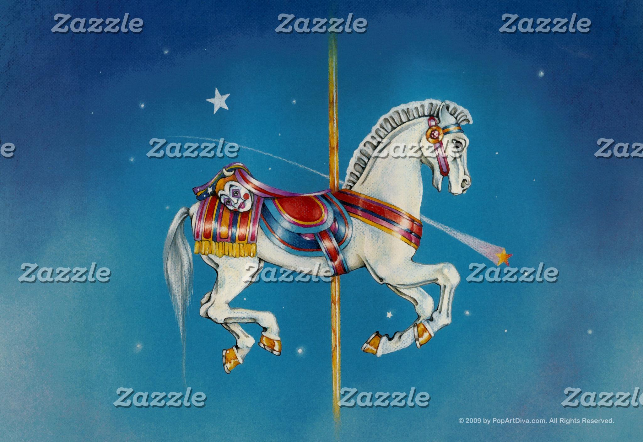 Red, White & Blue Carousel Horse