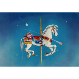 Red, White & Blue Carousel Horse