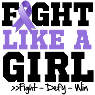 Hodgkins Disease Sporty Fight Like a Girl
