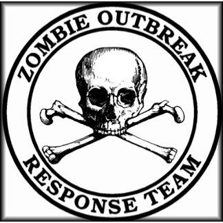 Zombie Outbreak Skull Crossbones