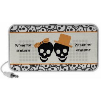 Elegant Halloween skull couple