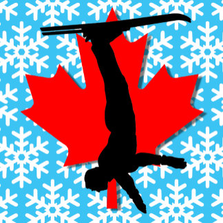 canada snowflake aerial skiing