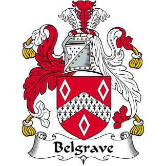 Belgrave Family Crest / Coat of Arms
