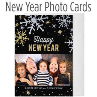 New Year Photo Cards