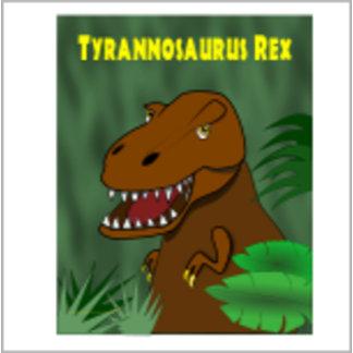 T Rex Jungle Poster