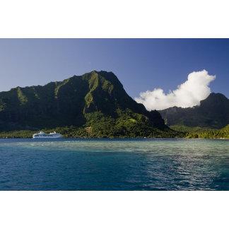 French Polynesia, Moorea. The Paul Gauguin