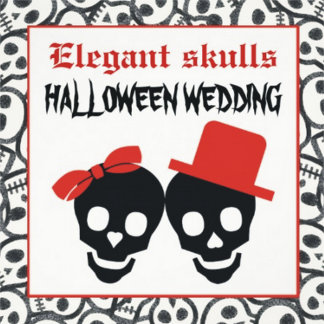 Elegant skulls Halloween wedding