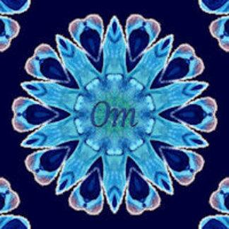 Om Mantra Blue Hearts Mandala