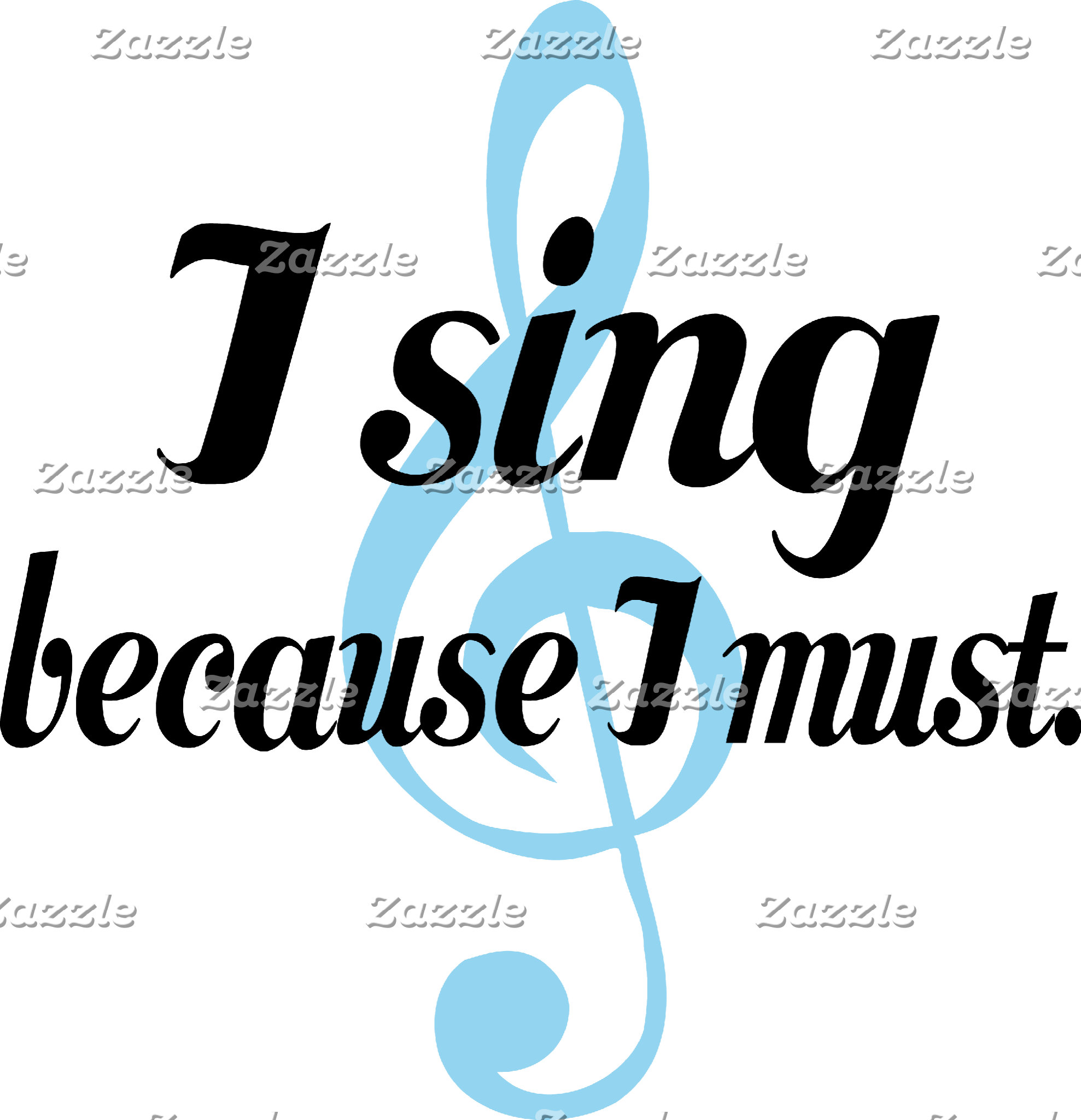 I Sing Because I Must T-Shirts
