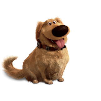 Dug the Dog from Disney Pixar UP - smiling