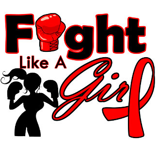 Blood Cancer Fight Like A Girl Silhouette