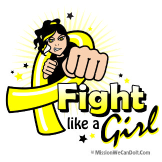 Animated Fight Like A Girl Bladder Cancer