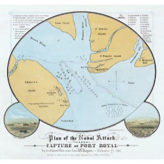 Plan of the Naval Attack And Capture of Port Royal