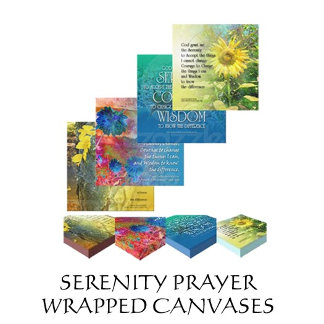 Serenity Prayer Wrapped Canvases