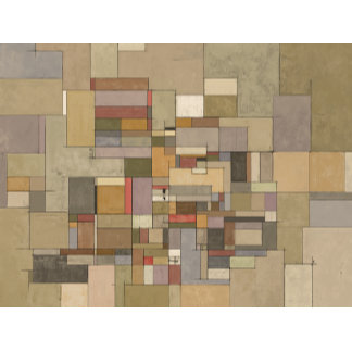Sandstone Strata Abstract Painting