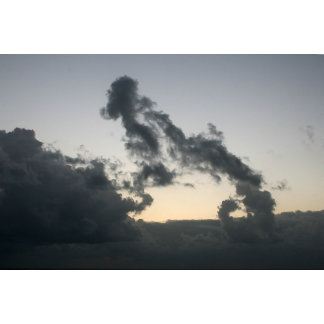 Cloud formation, dog skeleton? Cartoon?