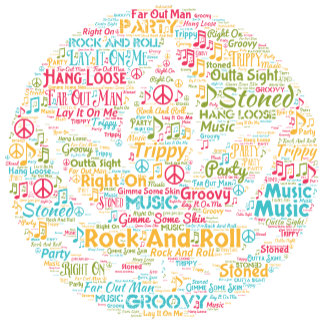 Rock and Roll Pot Leaf Word Art