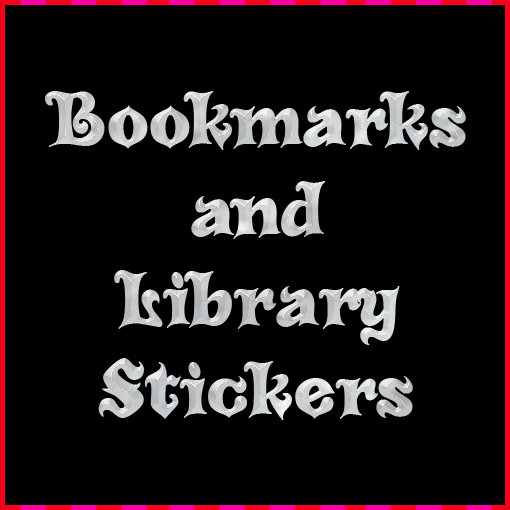 Bookmarks and library stickers