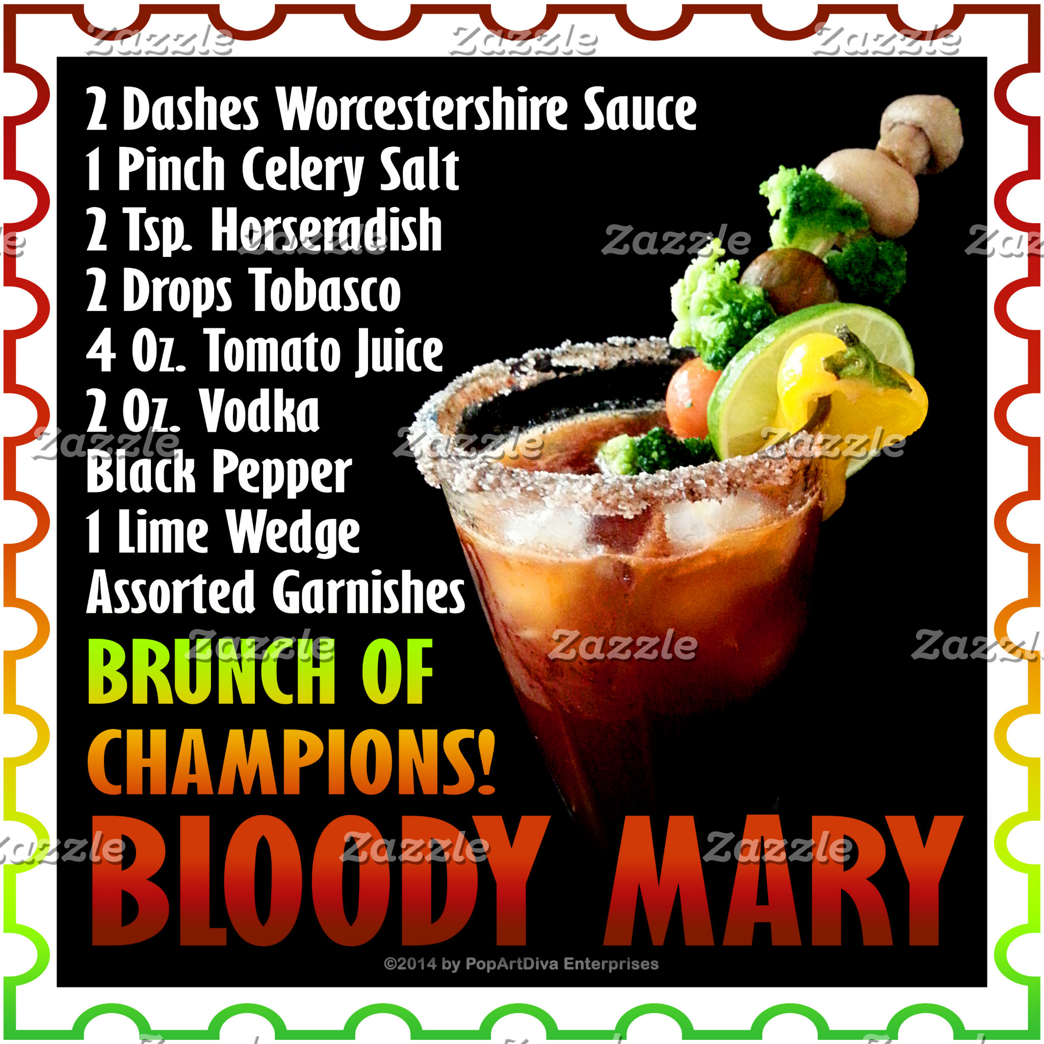 at2 Bloody Mary. Brunch of Champions.