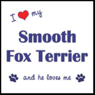 I Love My Smooth Fox Terrier (Male Dog)