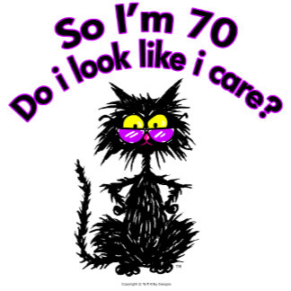 70th Birthday Cat Gifts