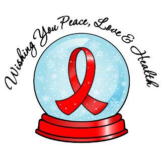 Blood Cancer Ribbon Merry Christmas Snowglobe