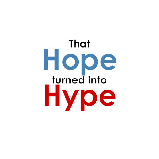 Hope is hype: Anti-Obama t-shirts