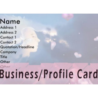Business/Profile cards/Gift Tags