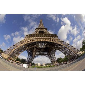 Fish eye shot of Eiffel tower