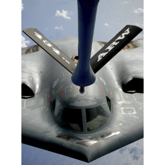 A B-2 Spirit aircraft getting in position