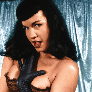 Bettie Page Vintage Pinup colored by Thomas Mason