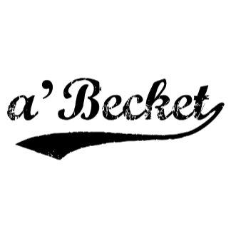 a'Becket in black script font