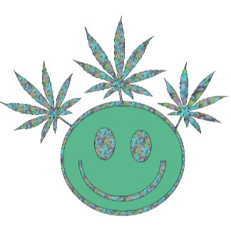 Tropical Colors Weed Smiley Face