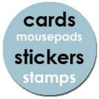 cards, stickers, stamps, mousepads, posters