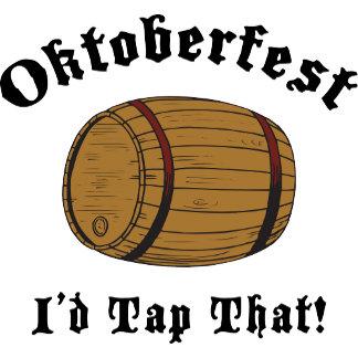 Funny Oktoberfest I'd Tap That T-Shirt Gift Cards