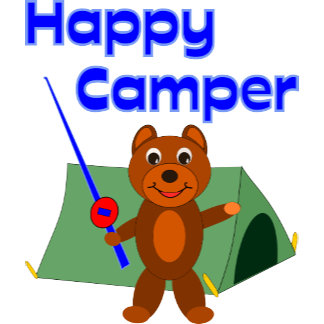 Happy Camper Fishing Pole (Blue)