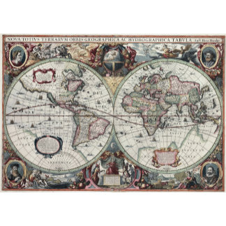 Old World Map 1630