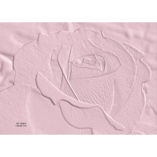 Embossed Soft Pink Rose