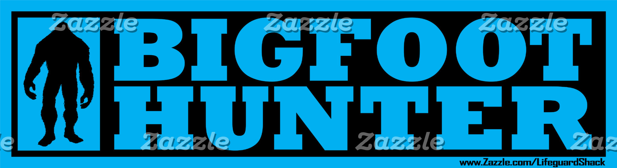 VARIOUS SQUATCHY BUMPER STICKERS