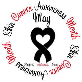 May is Skin Cancer Awareness Month Heart