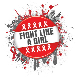 Fight Like a Girl Cool Button - Blood Cancer