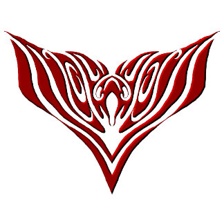 Eagle Tribal Tattoo - red and black