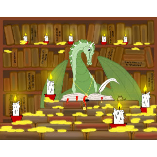At the Dragons library