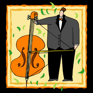 String Bass Tie