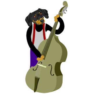 Dachshund Upright Bass Player