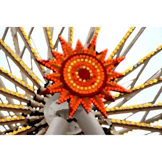 abstract sunburst image